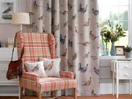 Plaid Curtains For Living Room This Is The Game Birds Fabric I Think It Would Be Lovely For The