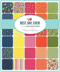 72 best Fabric lust images on Pinterest | Lust, Quilting fabric ... & Best Day Ever Moda Quilt Fabric Moda Charm Pack 42 squares Adamdwight.com