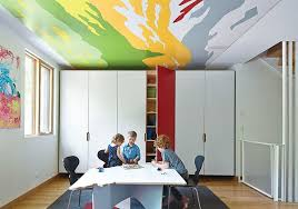 Kids furniture ideas Space Saving The Ceilings In The Childrens Rooms And Playroom Feature Abstract Details From Thomas Hart Benton Paintings Dwell Best 60 Modern Kids Room Furniture Design Photos And Ideas Dwell
