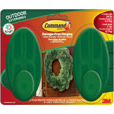 Command Strip Coat Rack Command Large Outdoor Wreath Hook With Foam Strips100AWGR100ESB 92