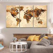 interior canvas world map incredible maps wall art icanvas with regard to 5 from canvas on wall art picture amazon uk with canvas world map invigorate rustic multi panel wall art