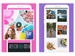 screenshots of photogrid app on an iphone