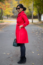 red winter coat and other preppy winter finds