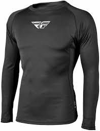 Fly Racing Heavyweight Base Layer Top Black