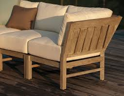 used teak furniture. The Club Teak Corner Sectional Can Be Used For Both An Outdoor Love-seat And Furniture O
