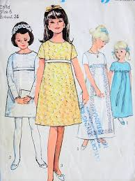 Little Girl Dress Patterns Impressive 48s MOD Little Girls Party Wedding Flower Girl Dress Pattern