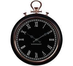 wall clock copper shabby chic wall clock