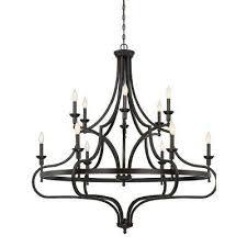 12 light english bronze chandelier