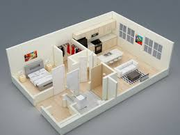 Midtown Lansing Floorplans - Studio apartment floor plans 3d
