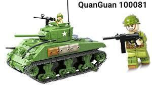 LEGO QuanGuan 100081 Army WW2 Tank Sherman M4A1 Lắp Ghép Xe Tăng M4A1 của Quân  Đội Mỹ - YouTube