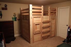 Plans For A Loft Bed Queen Loft Bed Plans The Bed Fort