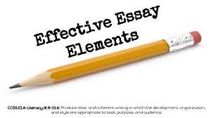effective essay elements w
