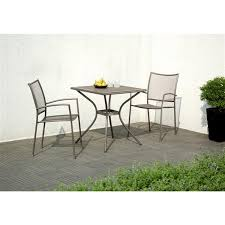 3 piece steel mesh outdoor bistro set
