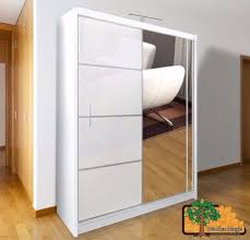 vista white 150 sy free standing wooden sliding door wardrobe slider