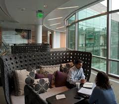 new office designs. the headquarters offers open design elements that encourage employees to find their own ideal spaces for getting work done credit stuart isett new office designs