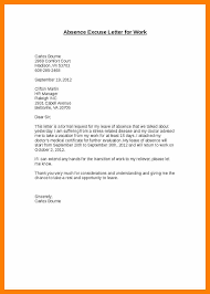 Absence Letter For School Sample Sample Excuse Letter For School Absence Insaat Mcpgroup Co