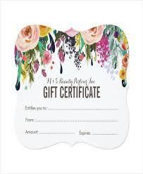 painted fl salon gift certificate template