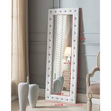 Full lenght mirror French Image Unavailable Image Not Available For Color Full Length Mirror Amazoncom Amazoncom Full Length Mirror With Faux Leather Tufted Crystal
