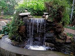 diy garden waterfalls water features garden waterfall