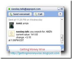 google current stock price check nasdaq stock quotes directly from google talk getting money wise