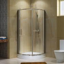 bathroom semi frameless pivot shower door track assembly kit in nickel acrylx acrylic finished