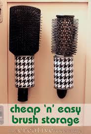 hair brush organizer. Brilliant Hair The Creative Imperative Hanging Hairbrush Storage From Tin Cans Throughout Hair Brush Organizer N