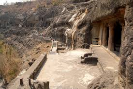 ajanta caves cave no 20 in the forefront
