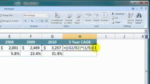 Add Cagr Line To Excel Chart How To Calculate A Cagr In Excel