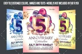 Anniversary Flyer Template Free Com Pastor