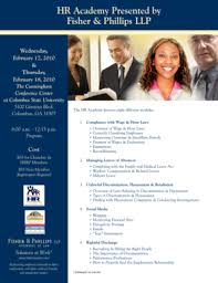Fisher Phillips Llp Fillable Online Hr Academy Presented By Fisher Phillips Llp Fax