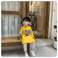 Siêu Hot] 𝑭𝑹𝑬𝑬𝑺𝑯𝑰𝑷 Thời Trang Áo Dài Ngũ Hổ Cho Bé Trai Diện Tết Từ  0-6 tuổi - Mint's Closet chính hãng 155,000đ
