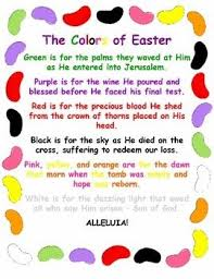 Jelly Bean Colour Chart The Colors Of Easter Jelly Bean Poem Christian Activities