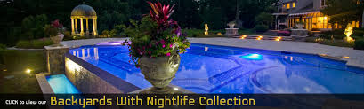inground pools at night. Kinnelon Bergen County New Jersey Landscaping Custom Project Inground Pools At Night M