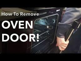 how to remove reinstall oven door