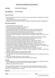 Home Services Manager Job Description Cls Care Services