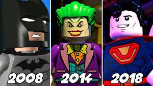 LEGO Cutscenes Animation <b>Evolution</b> in <b>LEGO Batman</b> & DC ...
