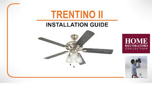 tino ii ceiling fan installation guide