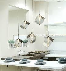 modern bar lighting. Flying Glass Cube Shaped Mini Pendant Lights For Bar Artistic Design With Tube Bulb Inside Black Modern Lighting S