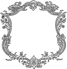 antique frame border png. JPG Download \u2013 PNG Vector · Vintage Floral Scroll Border Frame Antique Png N