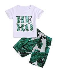 Baby Boy Girl Hero Print White T-Shirt Summer ... - Amazon.com