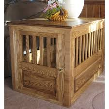 wooden dog crate furniture. Handcrafted Ash Wood Dog Crate Front View Wooden Furniture A