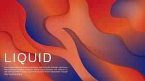Abstract 3D Liquid Gradient Background ...