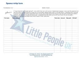 sponsorship forms for fundraising sponsorship