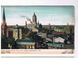 view of evansville from post office evansville ind downtown view from the post office with the courthouse center about the only thing still standing