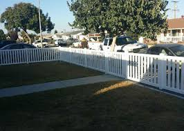 vinyl picket fence front yard. This Closed Top And Bottom White Vinyl Picket Fence Was Installed In Gardena, CA. With J\u0026J Fence, Clients Can Customize Their Fences To Front Yard