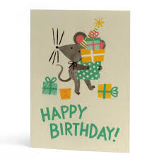 Birthday Mouse Greeting Card The Curious Pancake