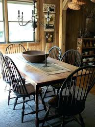 primitive colonial dining room primitives table and chairs