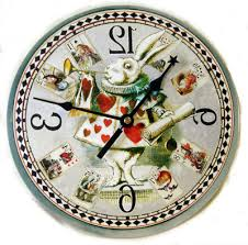 herald white rabbit clock alice home