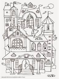 Small Picture Haunted House Coloring Pages Printables New creativemoveme