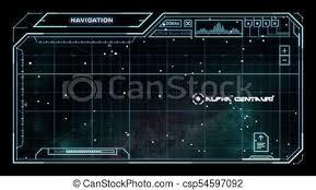 Sci Fi Chart Star Chart With Sci Fi User Interface